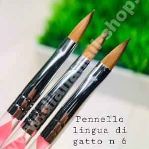 PENNELLO LINGUA DI GATTO N.6