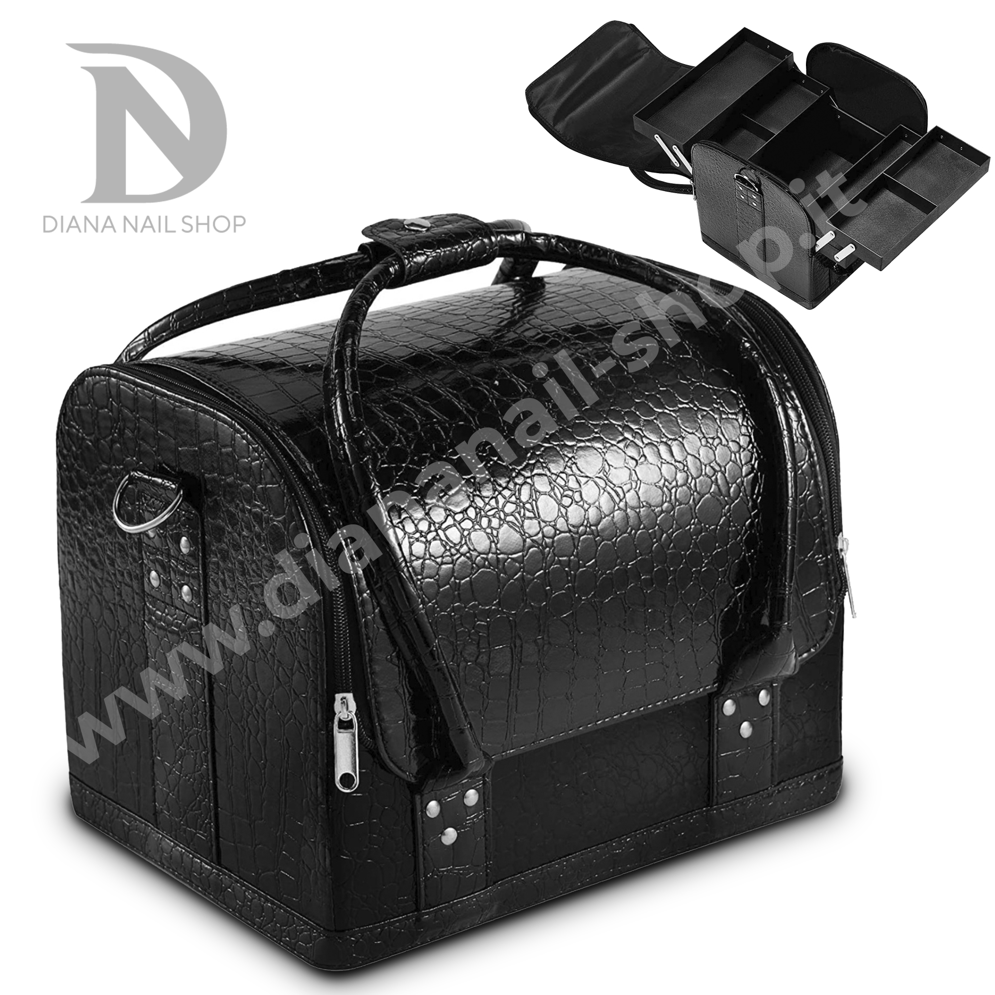 BEAUTY BOX BLACK LEATHEr